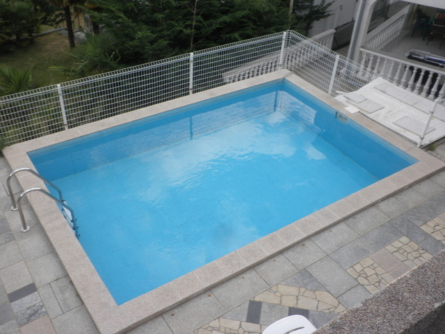 View from the upper floor of the swimming pool of the property - house for sale Croatia.