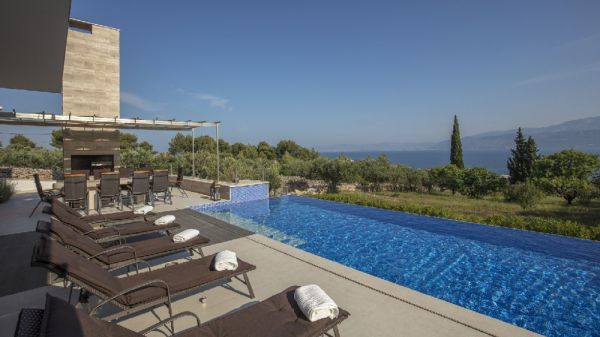 Modern luxury villa for sale on the island Brac, Dalmatia.