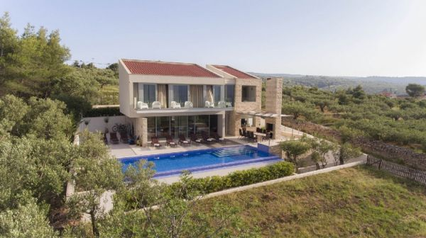 First class villa in prime location for sale in Croatia, island of Brac.