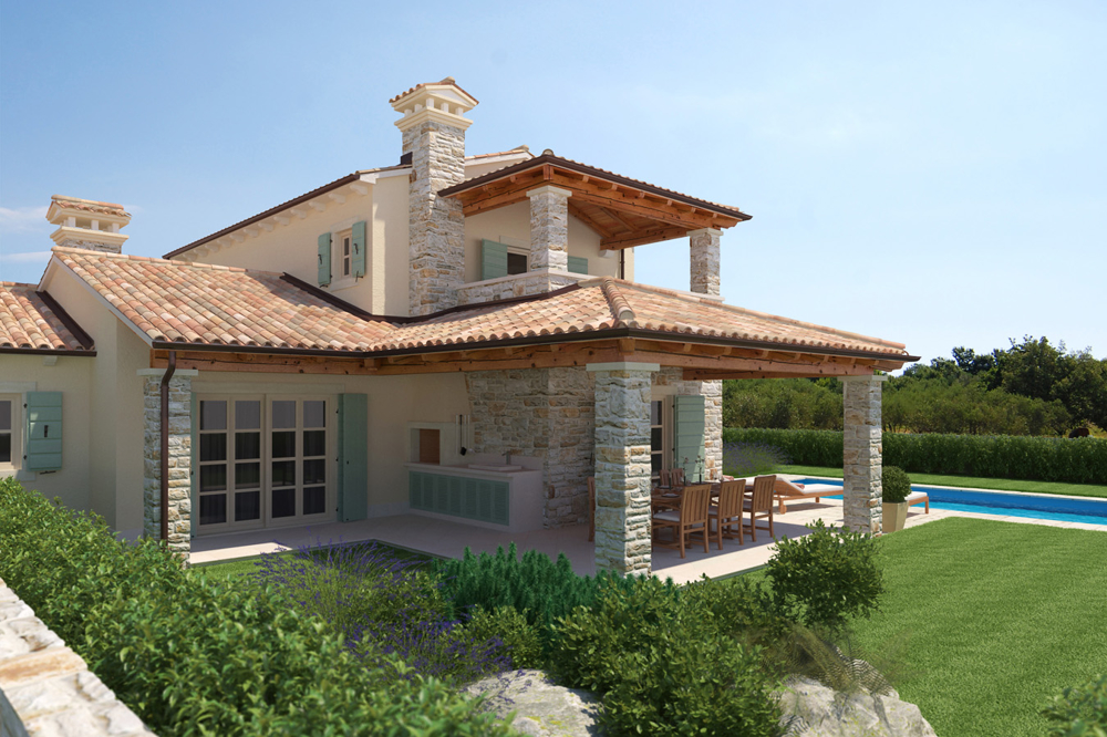 Beautiful stone houses in Croatia - real estate with sea view.