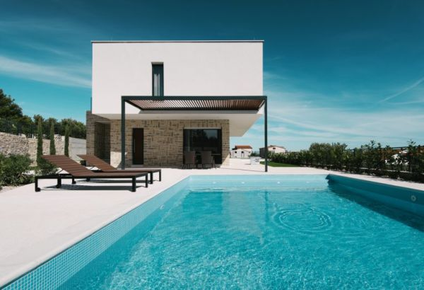 Modern villa for sale near Vodice in Dalmatia.