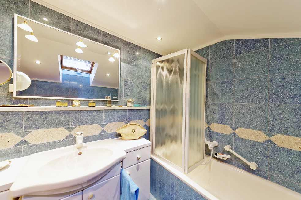 One of the bathrooms of this luxurious apartment hotel for sale in Croatia