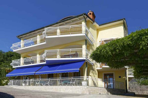 The apartment hotel for sale in Lovran, Croatia in front view