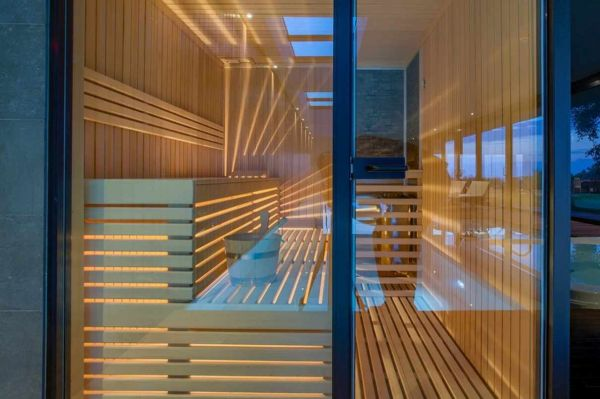 Sauna of the property H977 in Istria.