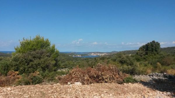 Plot with sea view in Croatia.