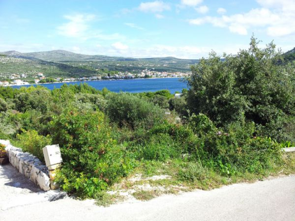 The sea view from the building plot for sale in Rogoznica, Dalmatia. Property with sea view - Panorama Scouting