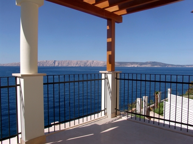 The splendid sea views from the balcony of a luxury apartment which is for sale in Croatia