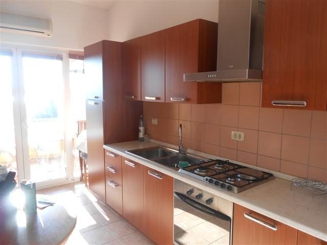 The kitchenette for apartment near the sea in Croatia, Istria, which is for sale