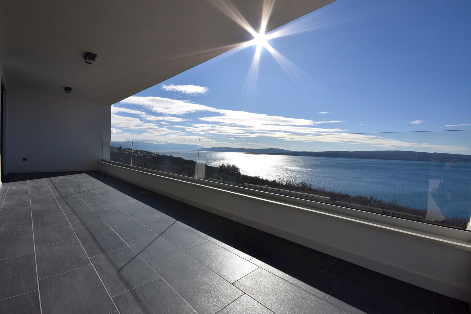 Properties in Croatia - panoramic apartment with sea views in Crikvenica, Croatia for sale.
