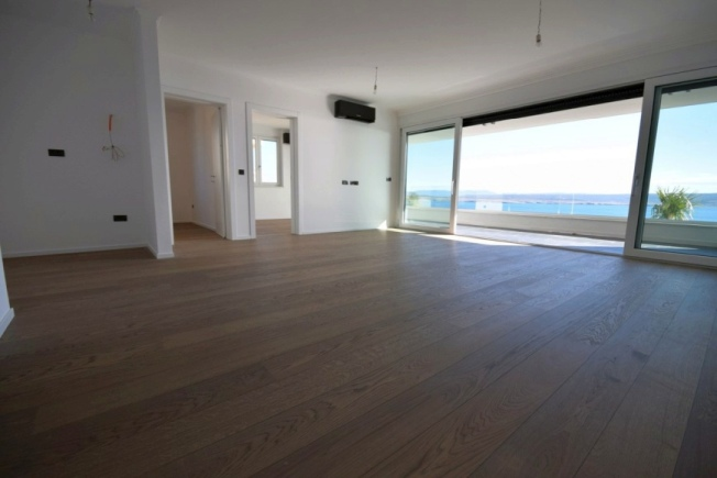 Open plan living concept - living room of the property A442 in Crikvenica, Croatia.