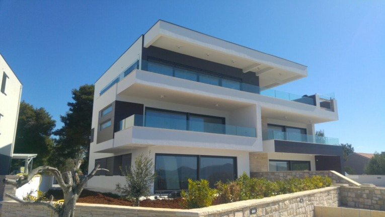 New luxury apartments at Zadar directly on the beach for sale.