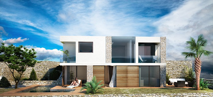 Luxurios villas in the first and second row to the sea in Croatia for sale.