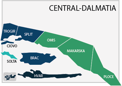 Property prices in Central Dalmatia, Croatia